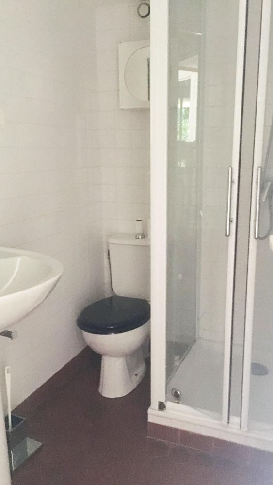 salle d'eau logement étudiant externe à l'écurie médecine PACES+ nice